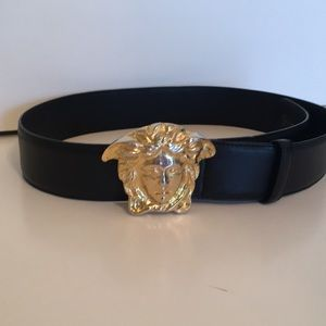 Gianni Versace Belt Black Leather